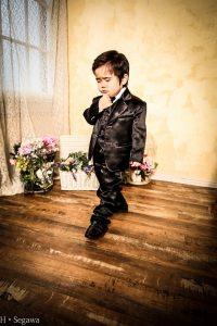 七五三写真 男の子タキシード
