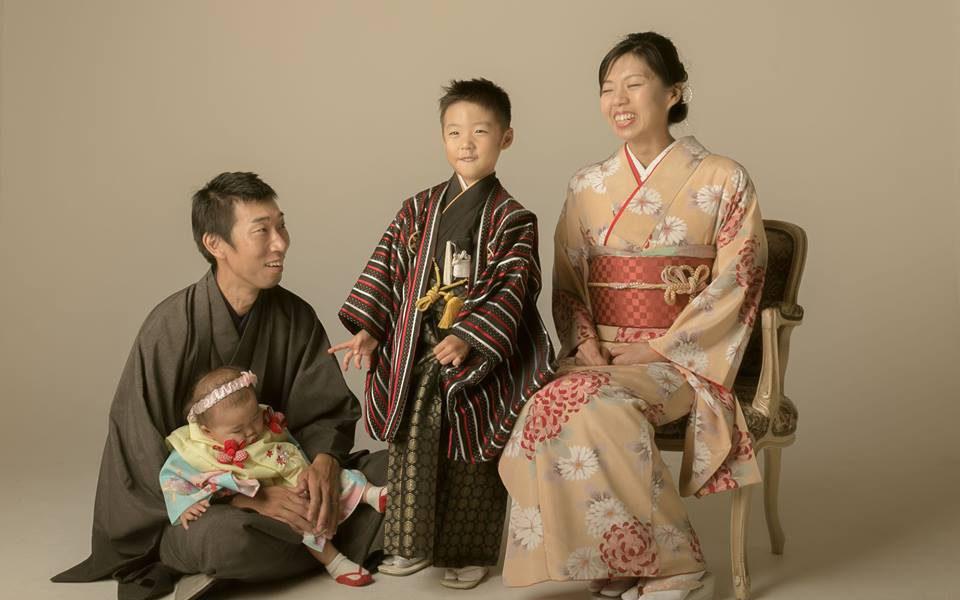 七五三 家族写真 和装 徳島
