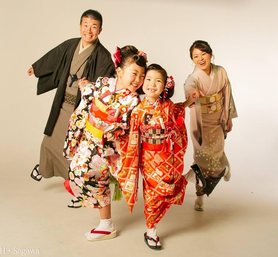 七五三 10歳記念 1/2成人 家族写真 写真 着物 和装 徳島