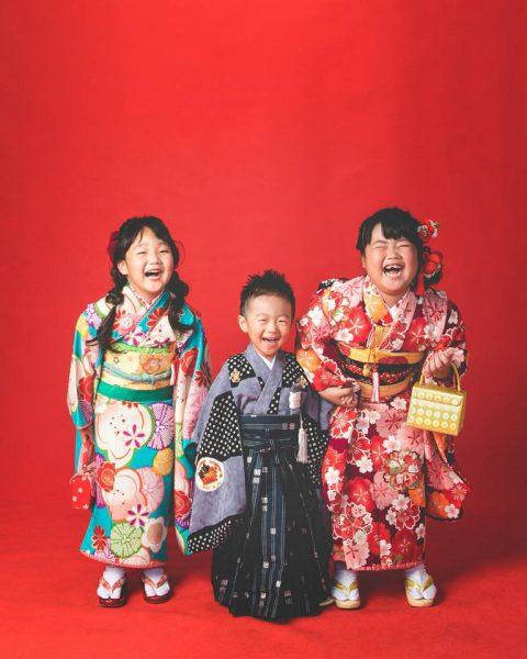 七五三 家族写真 写真 着物 和装 徳島