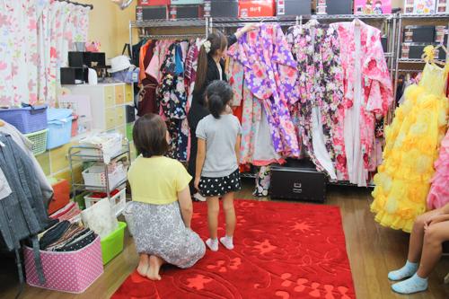 夏休みには七五三衣装試着会!