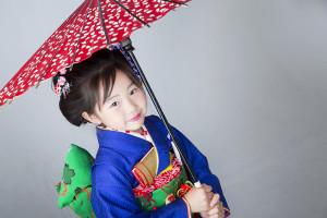 徳島 七五三 和傘
